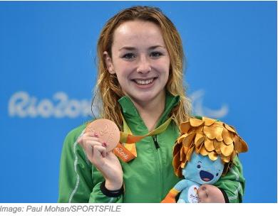 Ellen Keane proudly showing her Bronze Medal.